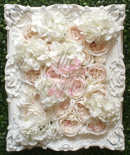 flower wall in frame wedding