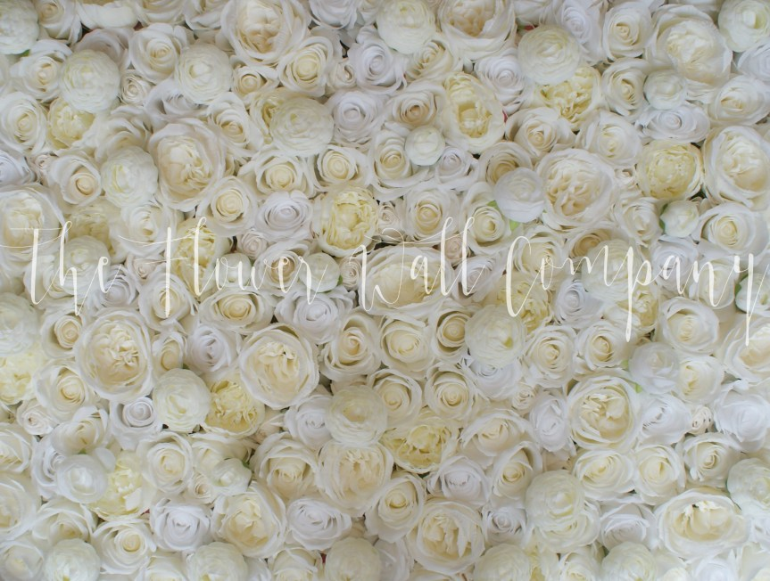 cream flower wall, floral backdrop, wedding flowers, wedding flower wall, karen tran flower wall