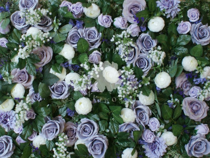 lilac flower wall