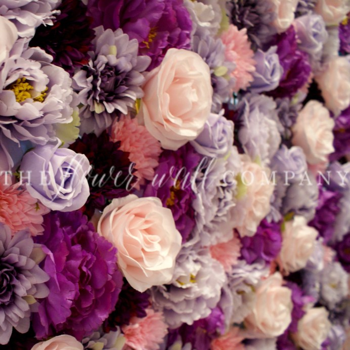 cheap flower wall