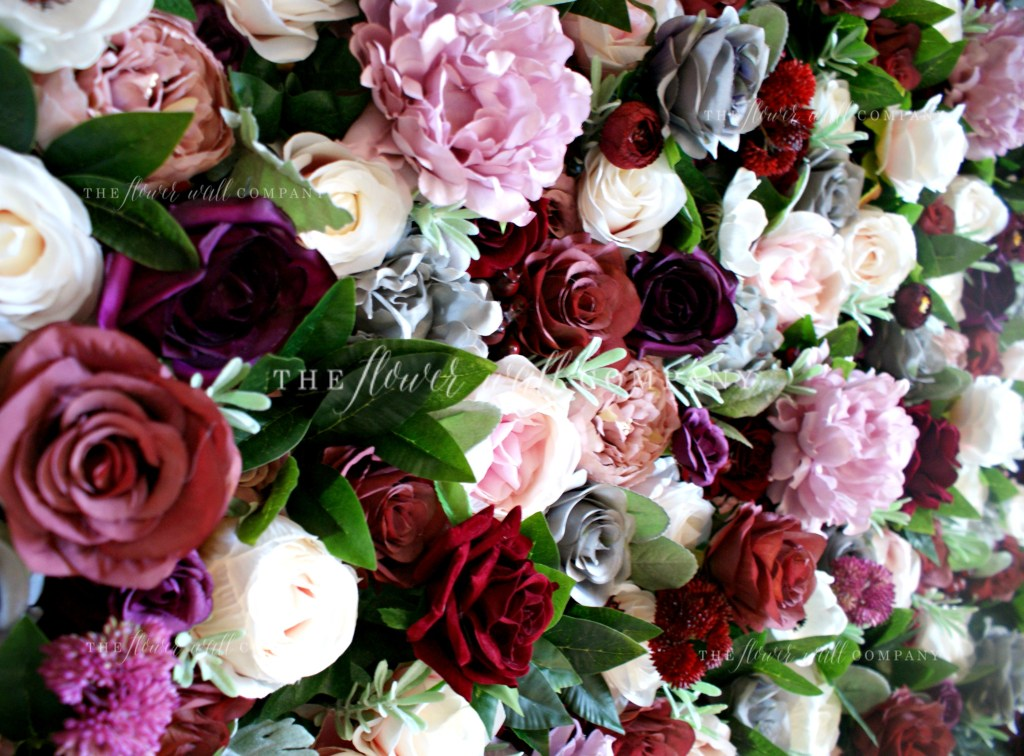the flower wall company blush red grey floral backdrop london sydney new york melbourne cheap flower wall london flower wall company co hire rent cheap flower wall luxury flower wall