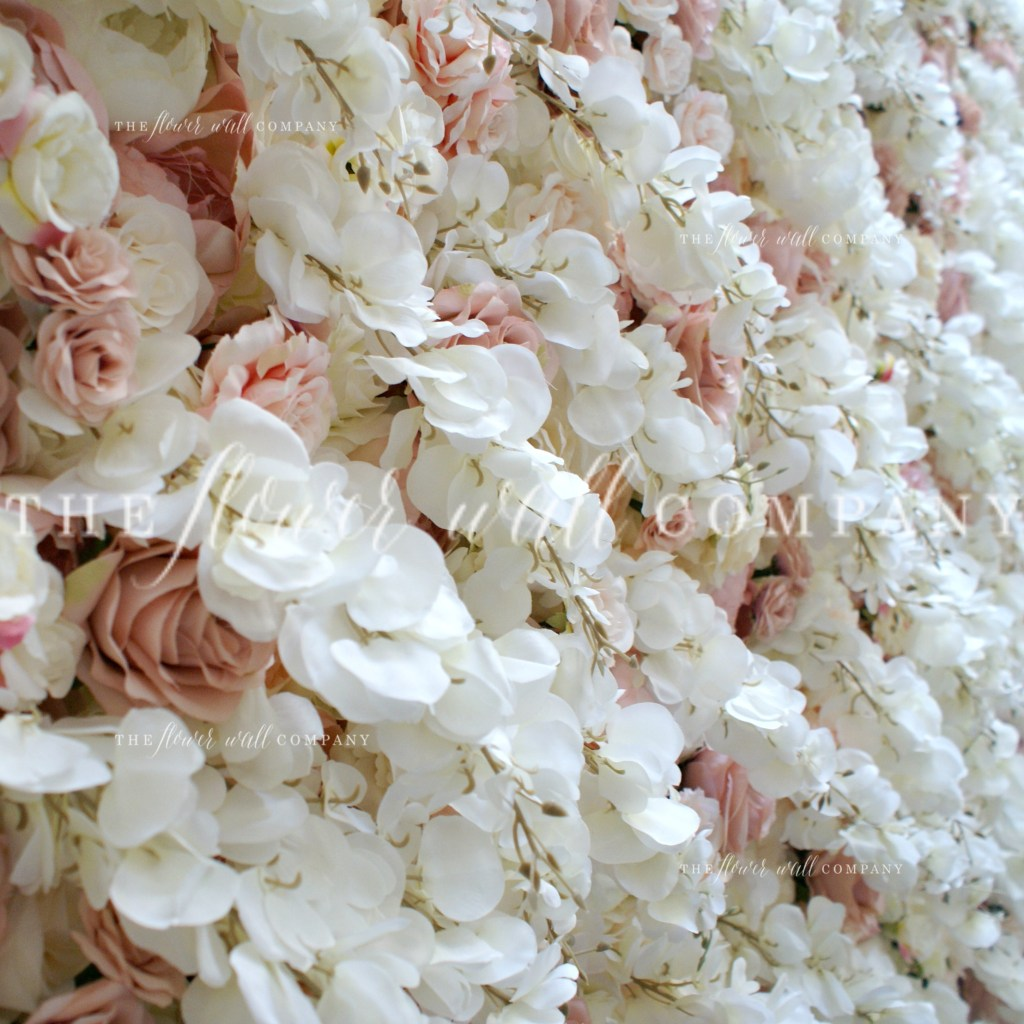 blush dusky pink cream flower wall floral backdrop hire sale buy wedding flower wall peonies roses wisteria london new york melbourne sydney flower wall cheap flower wall