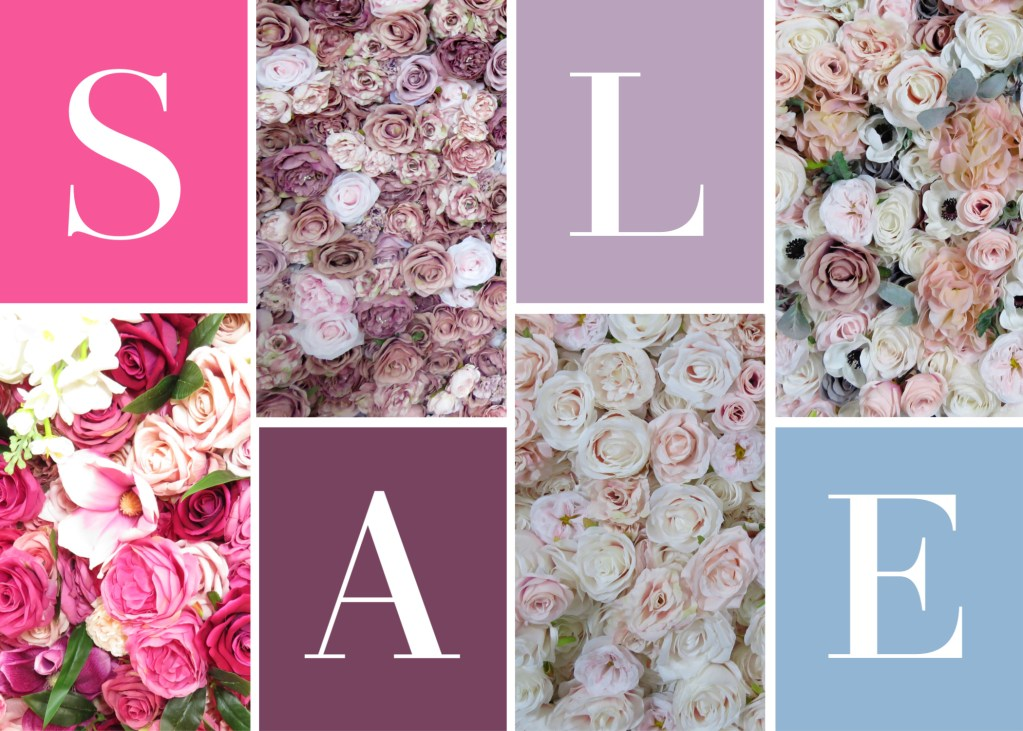 Sale 50% off flower wall
