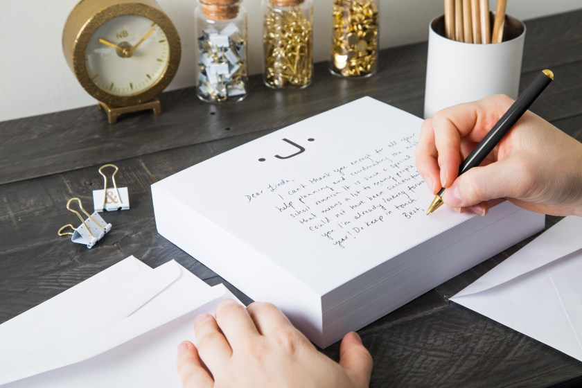 Black Ink Monogrammed notepad stationary, perfect for elegant note-taking