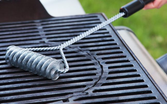 Brushtech double helix grill brushes- clean your grill safely
