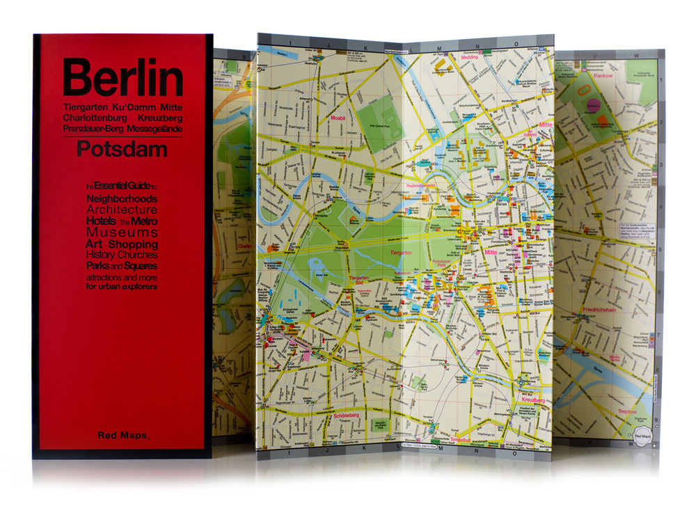 A Red Maps map of Berlin is seen unfolded
