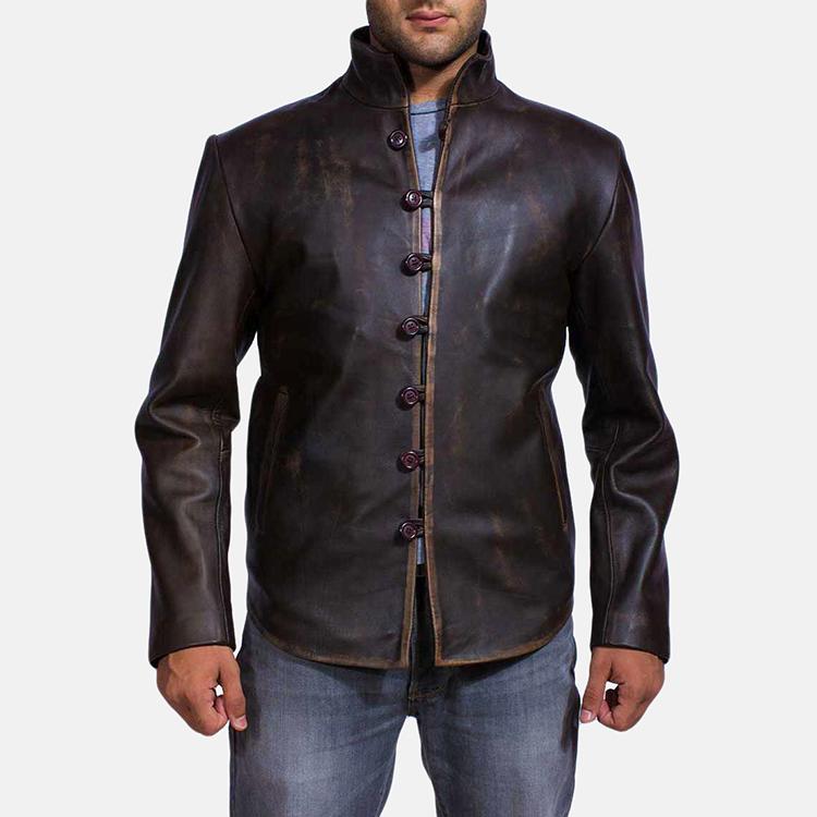 Antique leather jacket for men