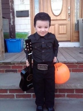 Johnny Cash Kid Halloween costume