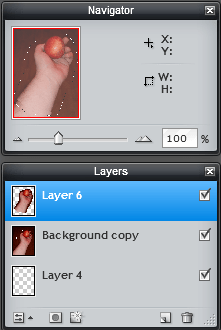 Photo editing tutorial layers image