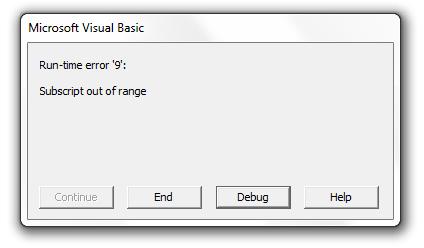 debugging error message 1