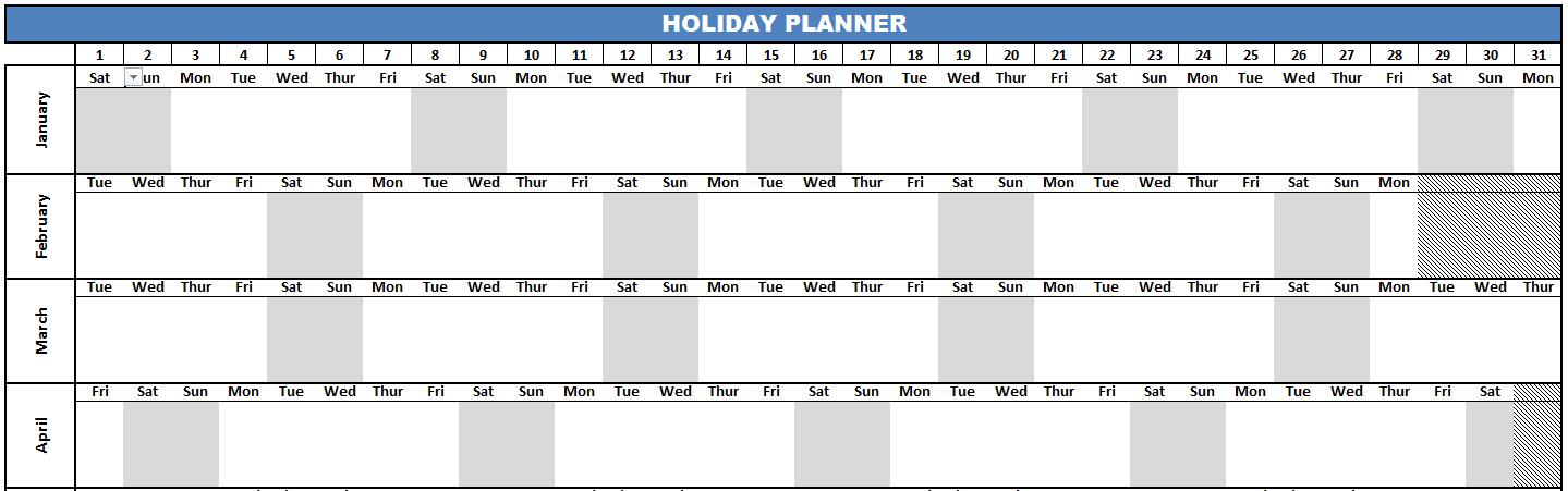 Sample Holiday Planner image