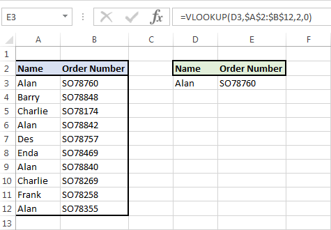 Image showing VLookUp example