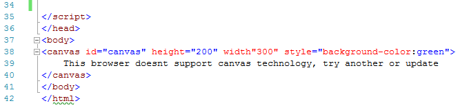 image showing canvas code to end example