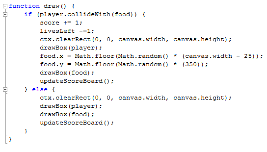 the draw function as it is