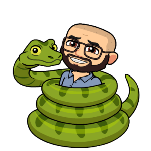 Image of my avatar with a snake