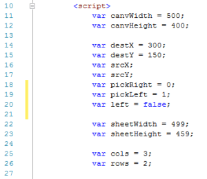update image of variables for sprite sheet animation