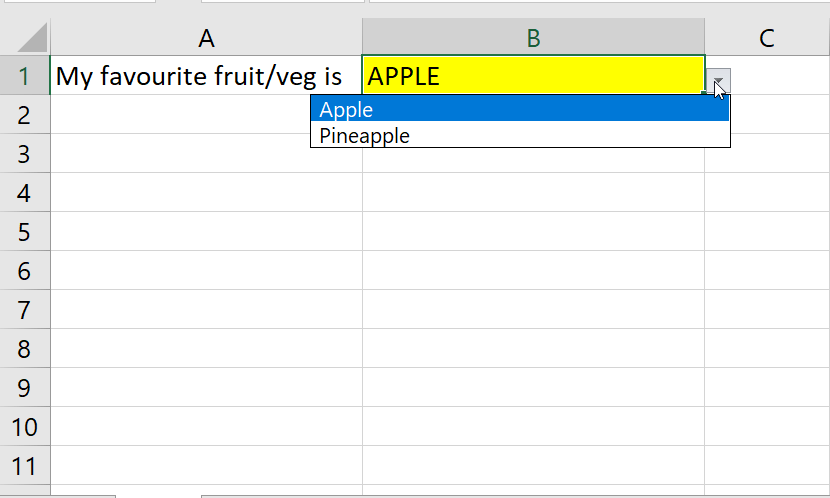 The results of searching for APPLE