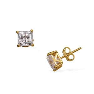 FRANCIS - 14K GOLD OVERLAY STERLING SILVER (SQR) STUD EARR