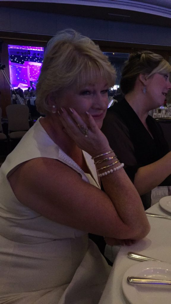 TJC at the UK Jewellery Awards 2016: Julie wearing Pearls 2477943 and GP M2389428