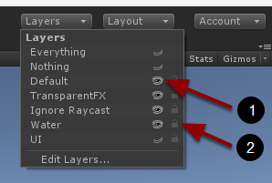 Hide or lock layer in Scene window