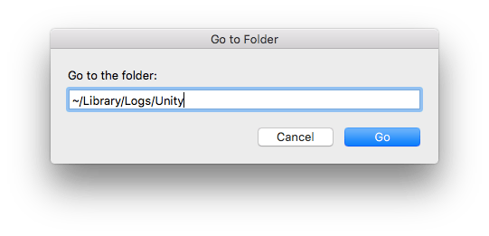 mac go to folder unity logs