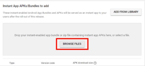 Google Play Instant APKS