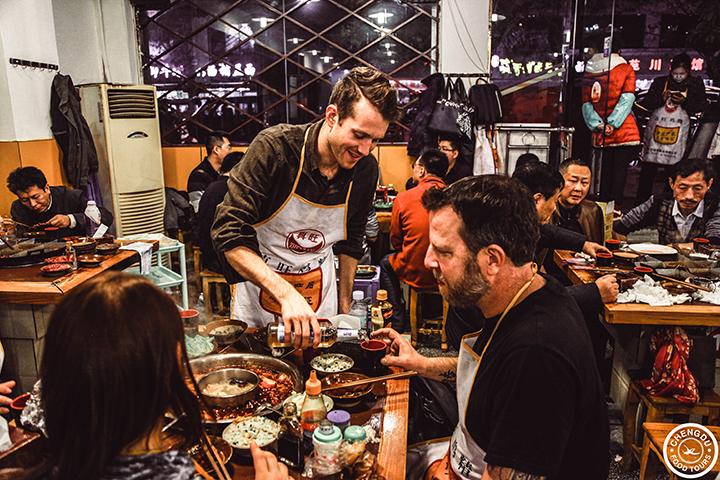 Chengdu hot pot with Jordan Porter