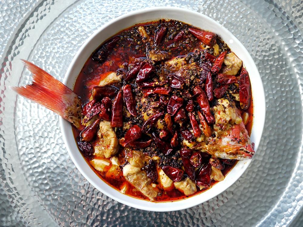 Water-boiled fish with tofu (shui zhu yu) from The Mala Market