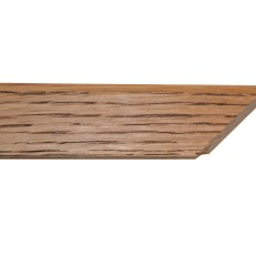Square, waxed oak frame with rounded outer edge. 30mm