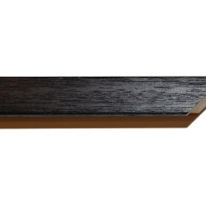 Square, deep wood frame with visible grain. 20mm