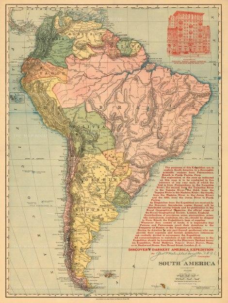 Explore South America Poster w