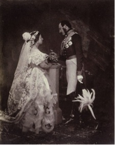 Queen Victoria and Prince Albert on their wedding day