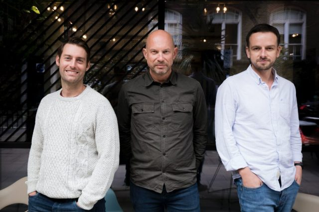 Juno co-founders Michael Wilkinson, Darren Westlake and Pete Bailey