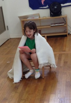 """This budding young actress reads """"Sick"""" by Shel Silverstein"""