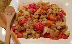 Warm Potato–Tomato Salad with Dijon Vinaigrette