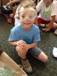 "What did this happy camper like best about Camp Invention? ""Making stuff!"""
