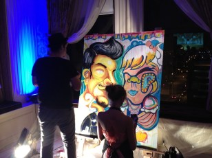"Local artists ""live painting"" during the after party in the Imperial"