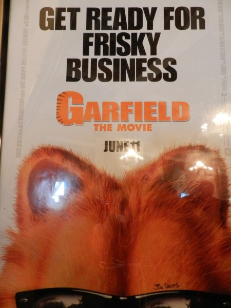 Would you like a Garfield poster AUTOGRAPHED BY JIM DAVIS????  Twelve year old me would!