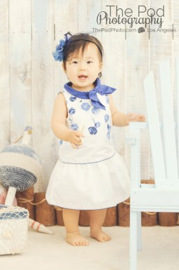 Beach-Nautical-Set-Studio-Themed-Photography-Beverly-Hills-Baby-Janie-And-Jack-Summer-Dress-One-Year-Old-Girl
