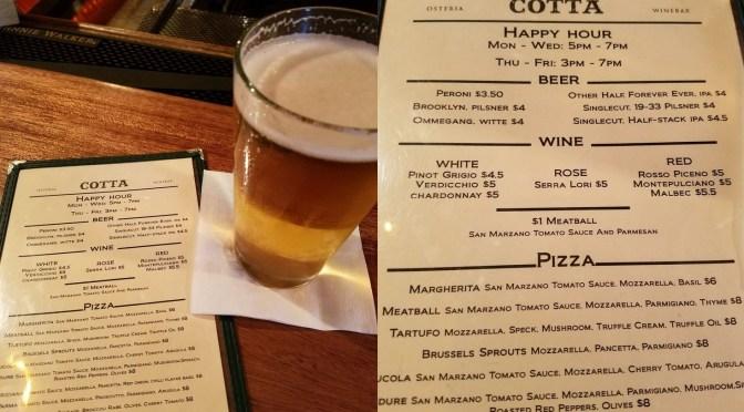 Osteria Cotta – a Little Italian Hideaway in NYC