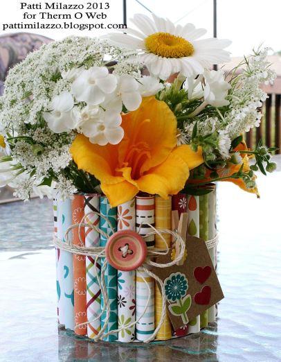 7 2013 ZIPS Rolled Paper Vase 1rev PKM