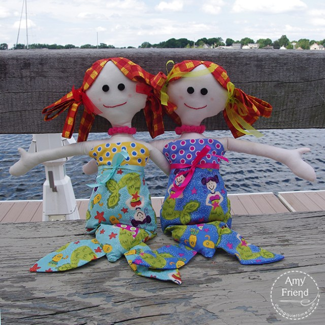 Lucy and Millie Mermaid pattern by Jennifer Jangles