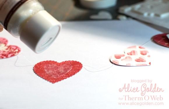 Alice-Golden-Therm-O-Web-iCraft-Valentine-Garland-6