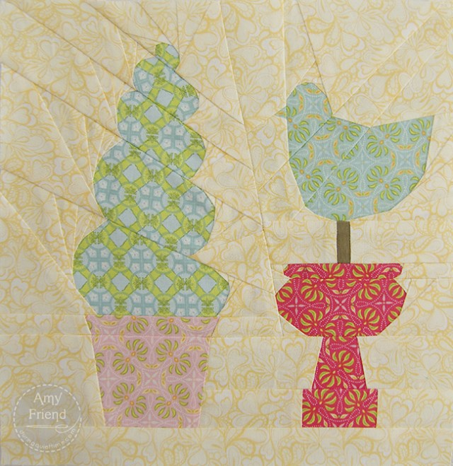 Topiary Paper Pieced Block by Amy Friend