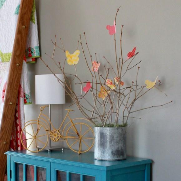 Cute little fabric butterflies - a tutorial!