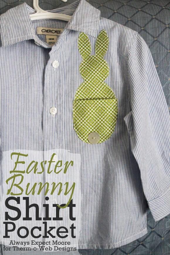 Bunny Shirt Pocket made with Therm o Web
