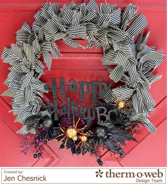 Jen Chesnick-Halloween Wreath- Glitter Dust