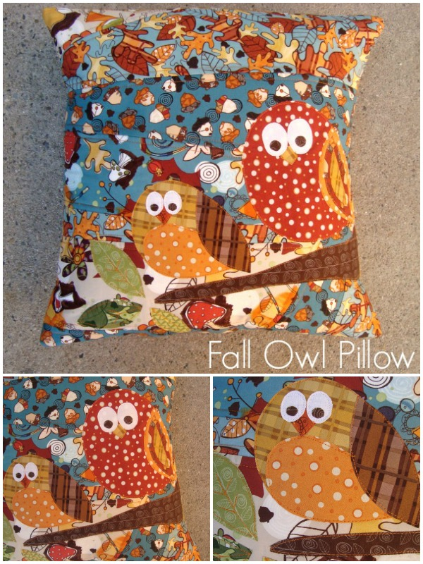 fall owl pillow tutorial