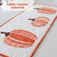 HeatnBond EZ Print Scrappy Pumpkin Table Runner
