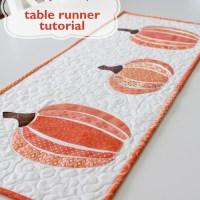 HeatnBond EZ Print Scrappy Pumpkin Table Runner